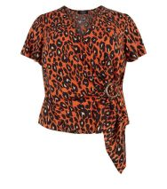 curves-orange-leopard-print-buckle-wrap-top